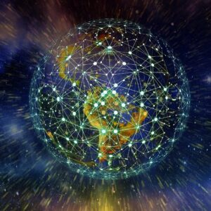 Erde Netzwerk Internet